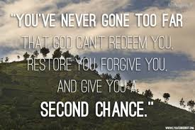 Image result for picture verses of second chance