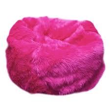 furry bean bag chair in pink furry hot pink furry bean bag chair