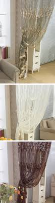 Sheer Curtains For Living Room 2 Panel Breathable Hollow Out Window Screening Sheer Curtains