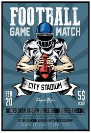 Football Flyers Templates Game Night Flyer Template Football ...
