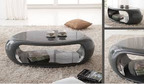 coffee table grey coffee table straas curved high gloss in dark