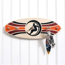 hang three surfboard key holder retro surfer
