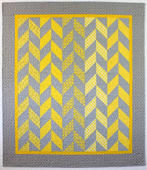 How to Pick Quilt Color Combinations That Are Right for You ... & Pretty gray and yellow Herringbone Quilt Adamdwight.com