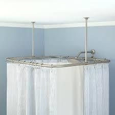polished nickel shower rod medium size of corner shower rod with ceiling in polished moen brushed nickel curved shower curtain rod