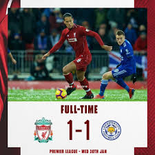 Liverpool had several clear cut chances but went back to the pavillion with a lead of only a single goal. Liverpool 1 1 Leicester City Full Highlight Video Premier League 2019 Allsportsnews Football High Liverpool Premier League Leicester City Premier League
