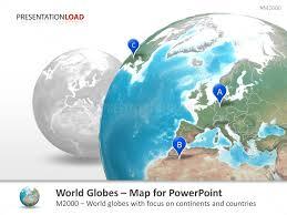 Powerpoint World Powerpoint World Globes Presentationload