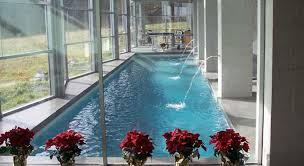 residential indoor lap pool. Indoor Pool Sunroom With Fountains - Crystal Clear Pools, Feasterville, PA Residential Lap