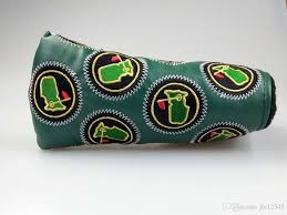 quality golf pu leather putter cover custom design golf head cover driver cover hybrid covers free