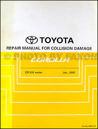 2006 toyota corolla wiring diagram manual original 2003 2008 toyota corolla body collision repair shop manual original