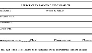 5 Credit Card Form Templates - Formats, Examples In Word Excel