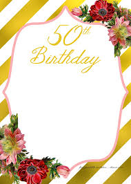50th Birthday Invitations Templates Free Printable Adult Birthday Invitation Template Free