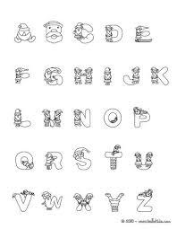 Small Picture Santa claus christmas alphabet letter coloring pages Hellokidscom