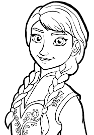 Queen Elsa Only Sister Princess Anna Coloring Pages Coloring Sky