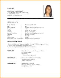 Useful Matrimonial Resume Sample For Female In Job Resume Format