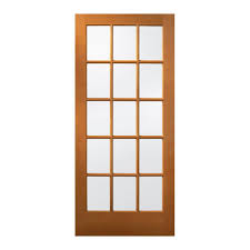 15 lite unfinished wood front door