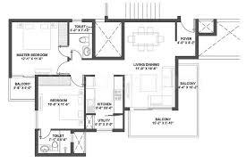 2bhk 2 super area 985 sq ft apartment