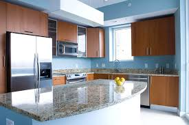 blue kitchen designs. L-shaped Kitchen With Island And Trendy Design Blue Also Modular Designs India
