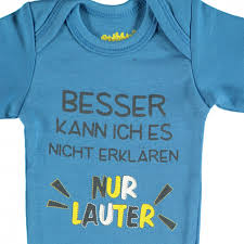 Baby Sprüche Body Im 2er Pack Blau Awg Mode