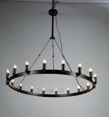 round candle chandelier hanging non electric