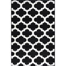 bright modern rugs retro funk cloud black white