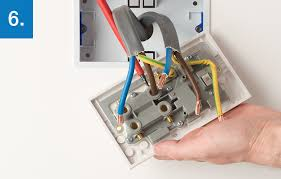bg electrical unscrew each terminal to release the wires noting supply and load you should now be able to remove the socket and place it to one side