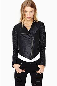 Nasty Gal Quilted Leather Moto Jacket   Fashion   Pinterest ... & Nasty Gal Quilted Leather Moto Jacket Adamdwight.com
