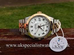 vintage rolex watches for uksw browse vintage rolex watches rolex datejust 18ct gold steel thunderbird bezel 16013