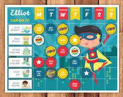 Reward Chart Superhero Reward Chart