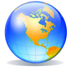 World Globe Logo Clipart