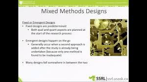 Fixed Research Design Mixed Methods Research Key Concepts And Considerations