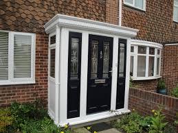 black posite door porch