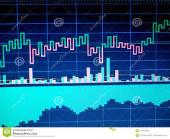 What Is Chart In Computer Stock Market Chart On Computer Display Business Analysis