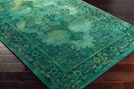 Green overdyed rug Cheap Teal Overdyed Rug Antique Wash Rug In Emerald Green Overstock Teal Overdyed Rug Antique Wash Rug In Emerald Green