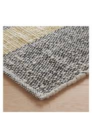brecan large grey wool rug 170 x 240cm