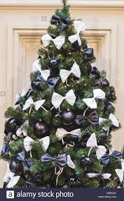 Decorating Christmas Tree With Balls Christmas Tree Decorated In Black And White Style With Balls And 44