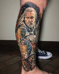 By Db Kaye Tattoo02 Witcher Tattoo Gaming Tattoo Cool Tattoos