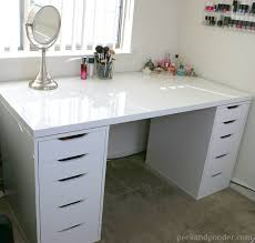vanity desk with drawers fun diy makeup organizer ideas for proper storage more ikea rack vanity