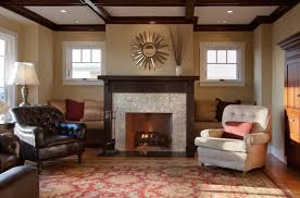 Featured Image of Cozy Craftsman Living Room With Leather Armchair