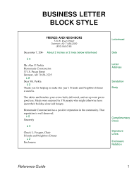 Block Form Business Letter Example Of Business Letter Full Block Form 5 Istudyathes