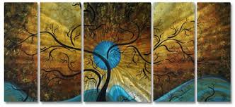 get now 58x24 megan duncanson blue moon contemporary home decor metal wall art on blue brown wall art with  blue and green copse hand painted canvas art