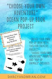 Popup Book Template Ocean Diy Pop Up Book For Kids