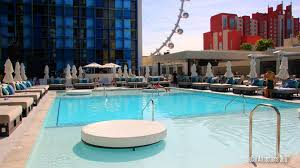 Tour of The New Pool at the Linq Hotel & Casino - Las Vegas - The Linq Pool  Tour - YouTube