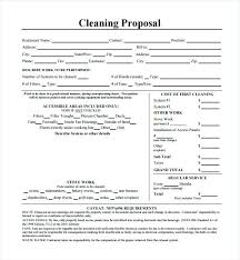 Cleaning Proposal Template Cleaning Proposal Template Pdf Cleaning Bid Proposal Template Free