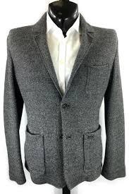Details About Woolrich Gray Wool Blend Sport Coat M