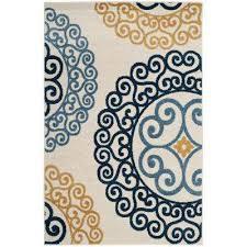 amherst ivory gold 6 ft x 9 ft indoor outdoor area rug
