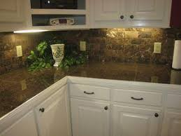 O Counter Tropic Brown Granite Tile Backsplash Dark Emprador Tumbled Stone