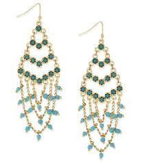 1 bcbgeneration gold tone blue and green beaded chain drop earrings 35 these bcbgeneration earrings truly em spring s bohemian princess trend