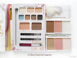 e l f disney princess face parison belle beauty book belle face palette and elsa