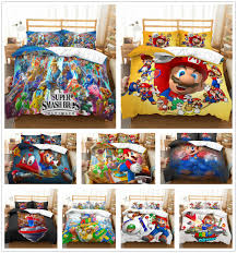 details about customized 3d super mario brothers bedding set duvet cover comforter cover kids