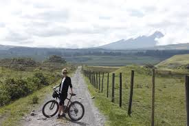 cush hits the mountain bikes in cotopaxi